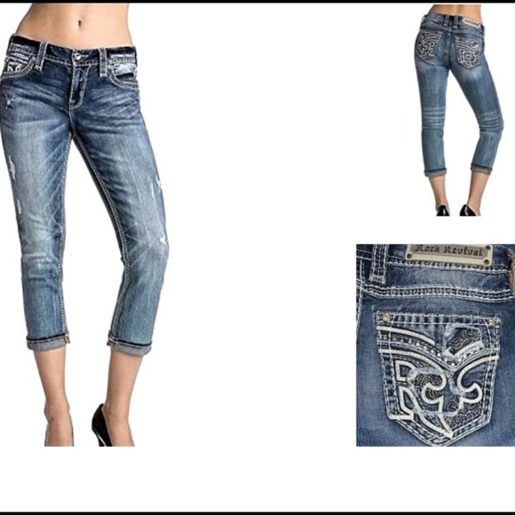 Rock Revival Denim - NWT Rock Revival Ebba Crop Capri's ;27) size 29/30